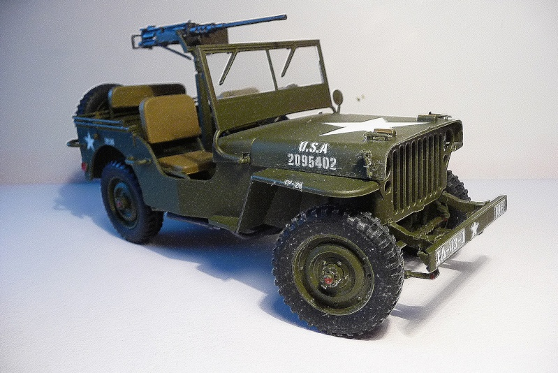 NOUVEL ACHAT=  U.S. JEEP WILLYS MB  -  MITSUWA MODEL 1/20   Display type P1050722