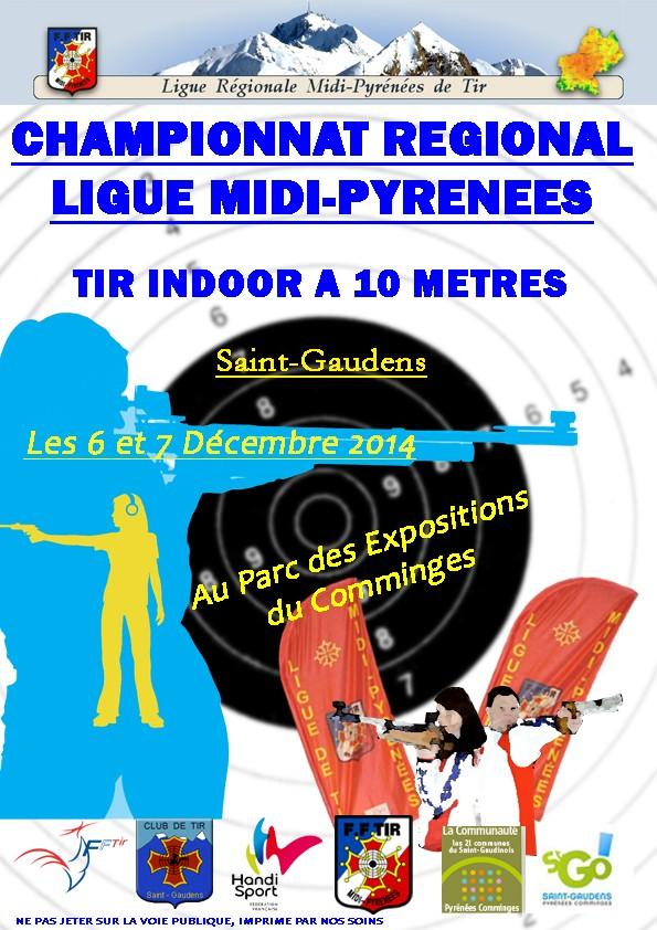 Championnat Régional Midi-Pyrénées de Tir 10 mètres Affich10