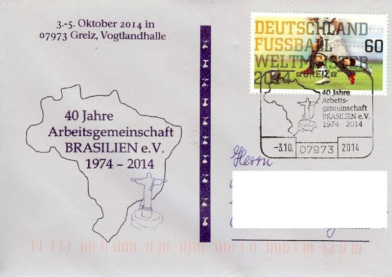 Briefmarkenvereine im Stempel Brasil10