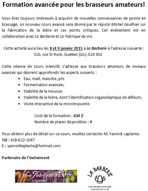 Formation avec Michel Gauthier en janvier Test10