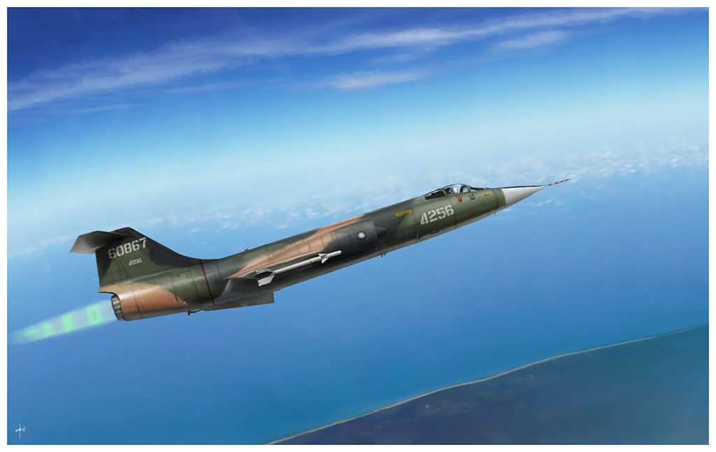ROCAF F-104A (Taiwan)-Digital painting F-104a12