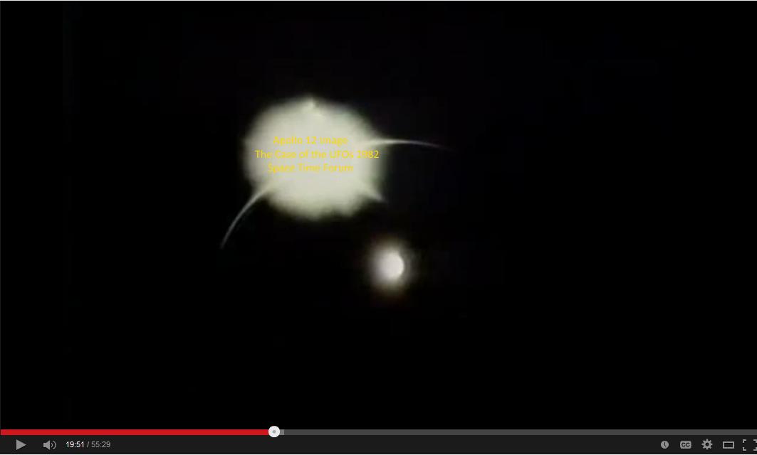 Apollo 12 image with Moon-UFO Reflection Apollo10