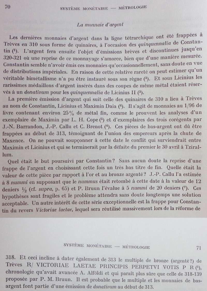 Les pseudo argentei du RIC VII P70-7110