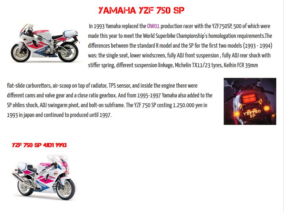 YAMAHA YZF 750 SP !!! 0410