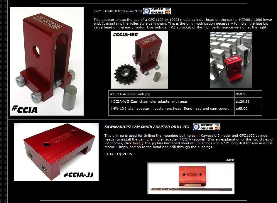 compatibilité culasse Z1R/Z1000/1000J Ape10