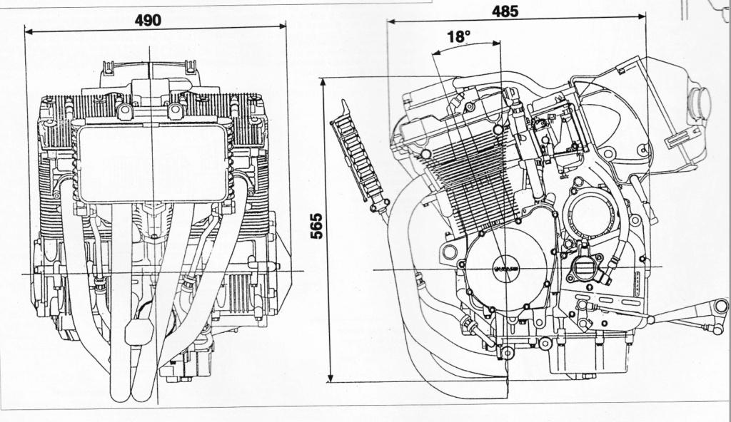 supports moteur gsxr dans cadre Martin Bandit10