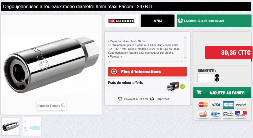 recherche informations sur extraction de goujons grippés Facom10