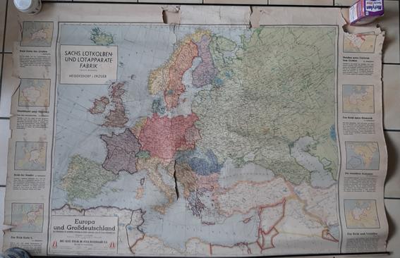 carte europeennne de 1941 éditée en Allemagne 20200527