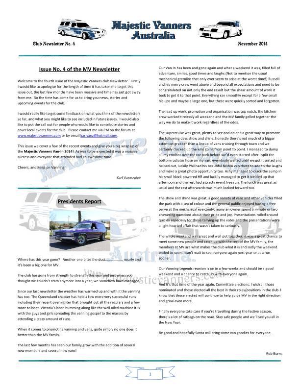 Majestic Vanners Newsletter No.4 November 2014 Mv_new10