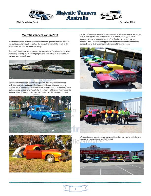 Majestic Vanners Newsletter No.4 November 2014 Mv_new13