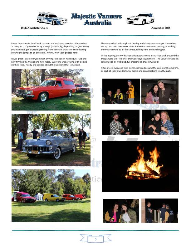 Majestic Vanners Newsletter No.4 November 2014 Mv_new14