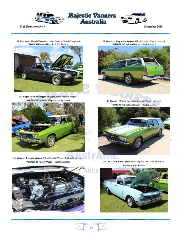 Majestic Vanners Newsletter No.4 November 2014 Mv_new23