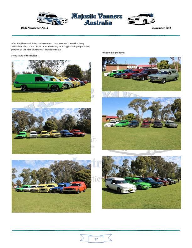 Majestic Vanners Newsletter No.4 November 2014 Mv_new27
