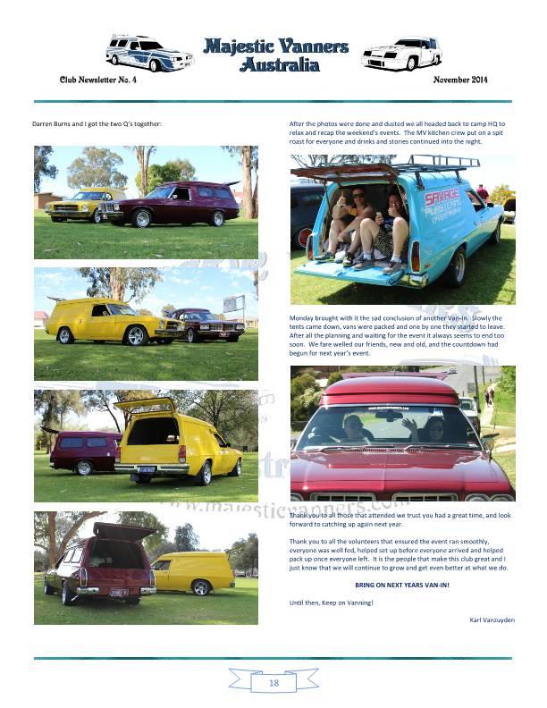 Majestic Vanners Newsletter No.4 November 2014 Mv_new28