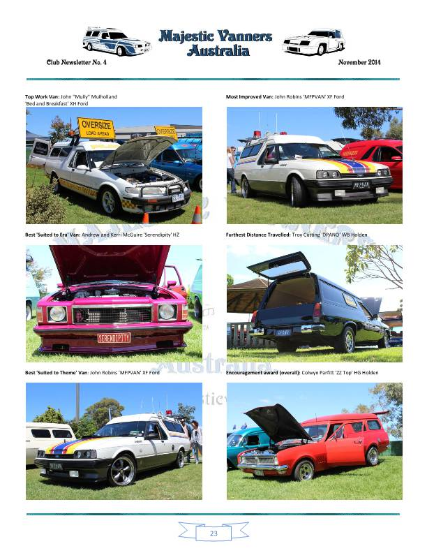 Majestic Vanners Newsletter No.4 November 2014 Mv_new33