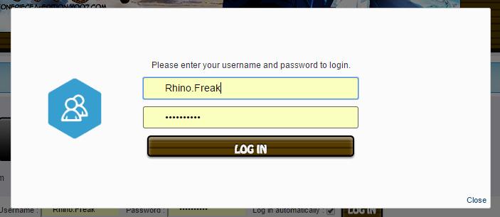 Add a login popup for the toolbar Untitl15
