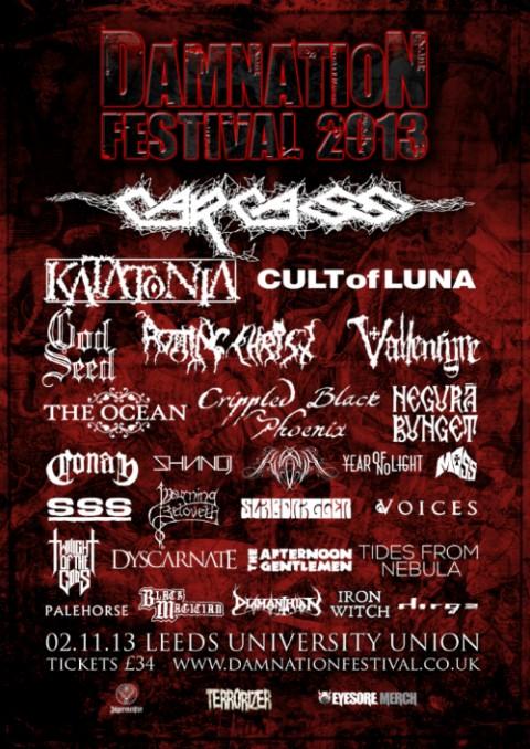 Damnation Festival - University Leeds (UK) November 02 - 2013 Damnat10
