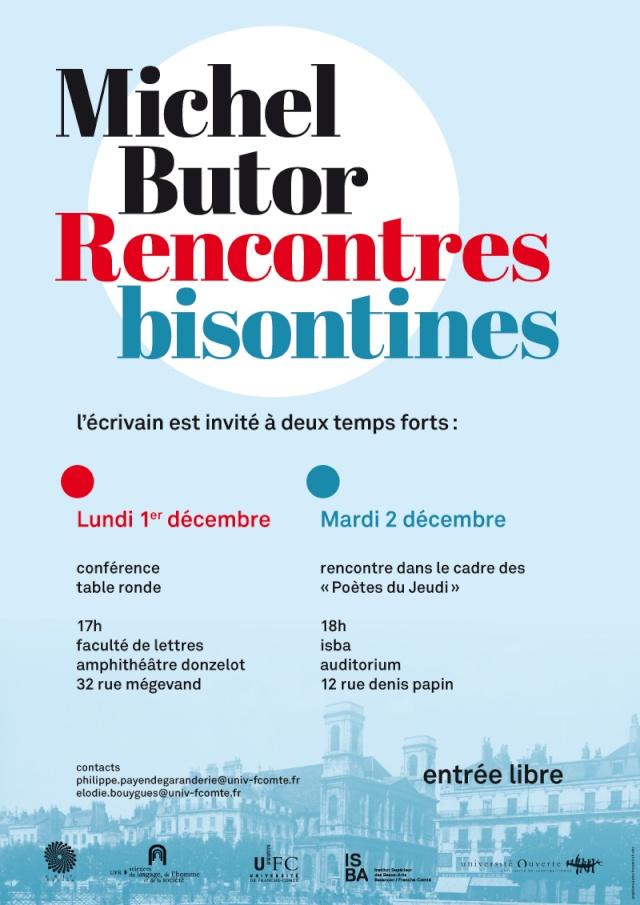Michel Butor à la fac de lettres de Besançon les 1er et 2 décembre 2014 ! Michel10