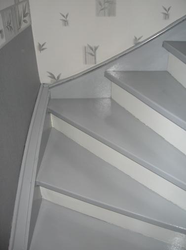 Escalier repeint et montée d'escalier relooke Captur15