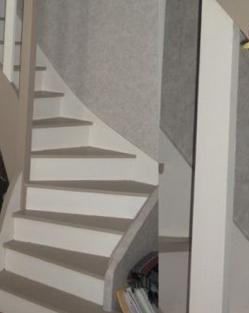 Escalier repeint et montée d'escalier relooke Captur17