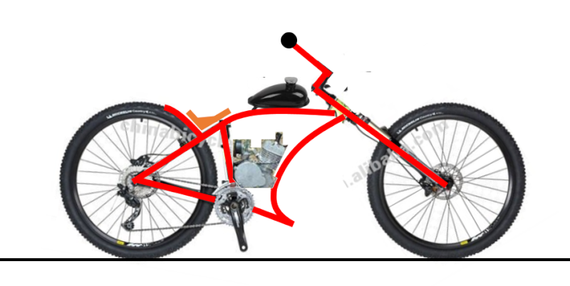 Vélos by léo : velos chopper motorisés Velo_111