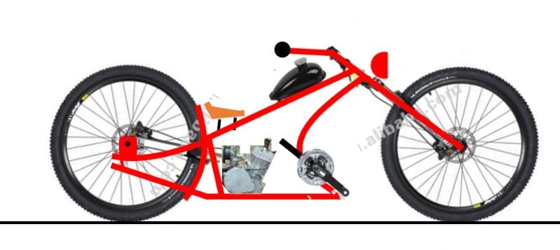 Vélos by léo : velos chopper motorisés Velo_211