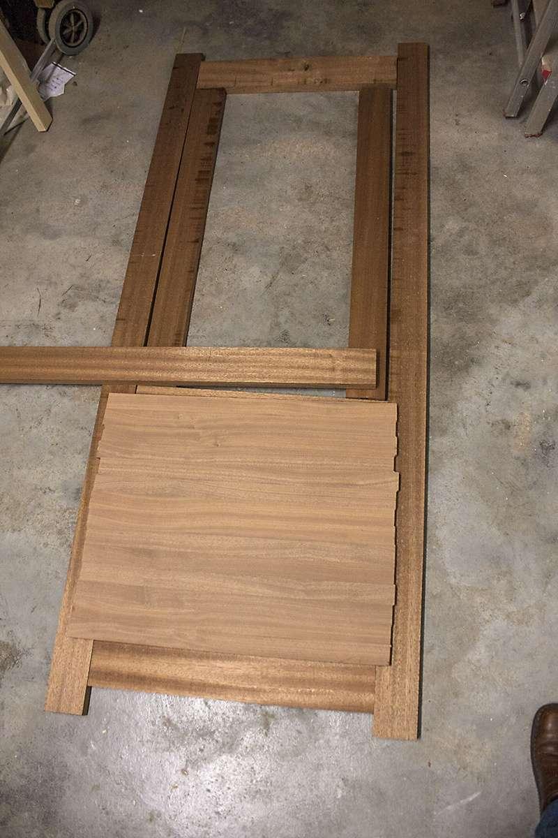 """[Fabrication] Roulotte de bohème => Une porte """"façon Kity"""" Struct11"""