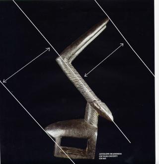 Bamana people, Ciwarakun (Chi-wara) or Sogonikun (Sogoni-kun), Headdress Sculpture, Sikasso Region (?), Mali Chiwar12