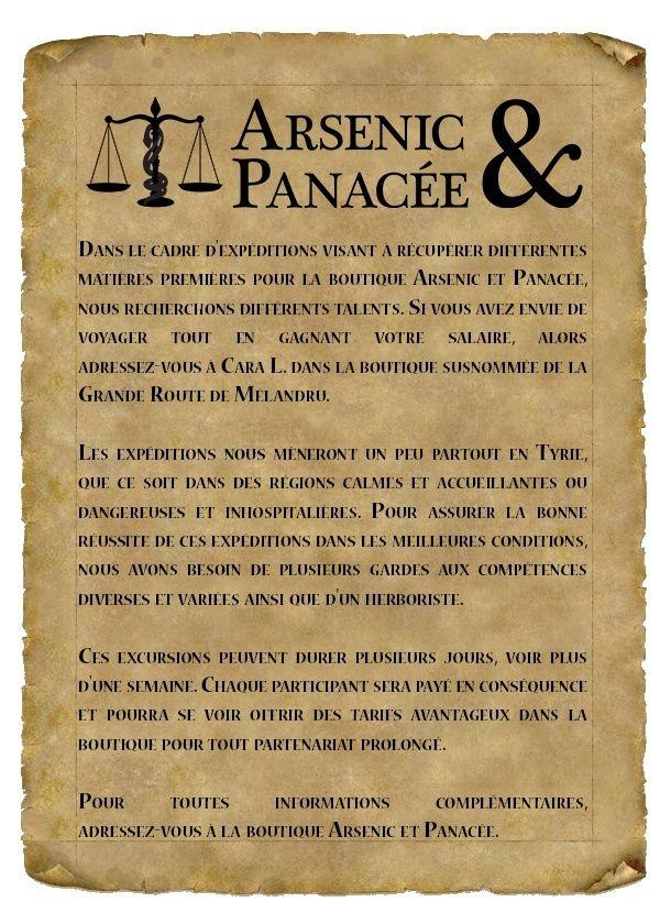 Arsenic et Panacée  Affich10
