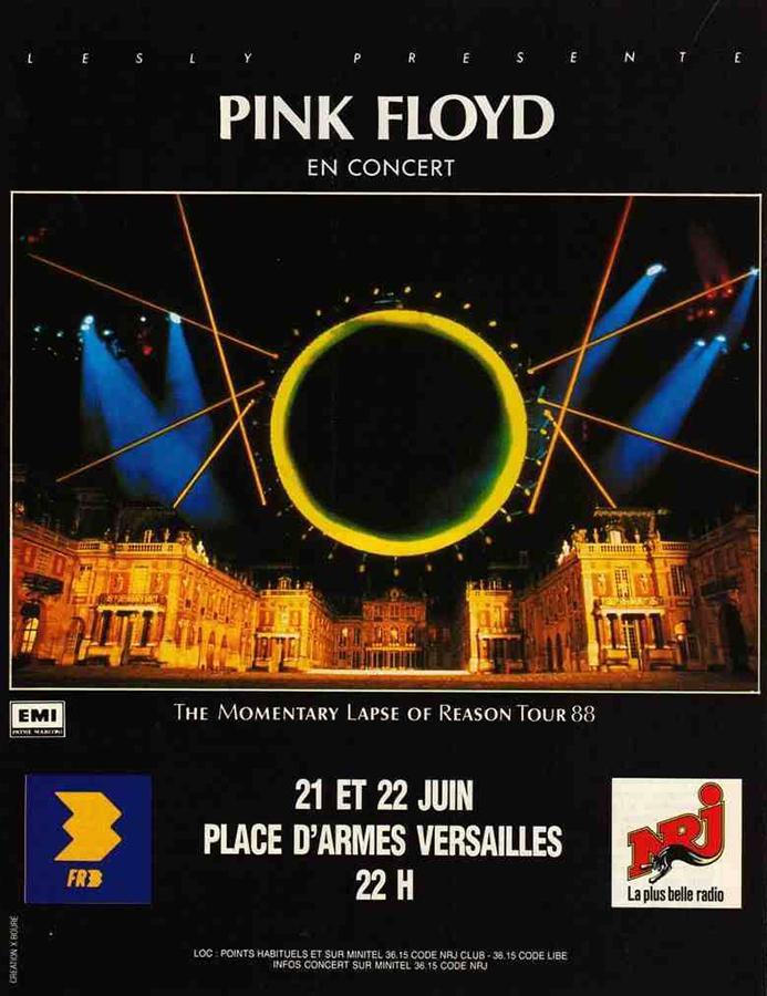Pink Floyd à Versailles en 1988 Affpin10