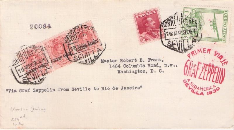 nach - Südamerikafahrt 1930, Post nach Rio de Janeiro Scanne14
