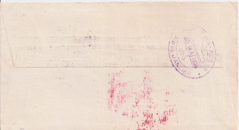 nach - Südamerikafahrt 1930, Post nach Rio de Janeiro Scanne16