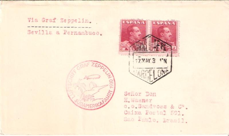 nach - Südamerikafahrt 1930, Post nach Rio de Janeiro Scanne17