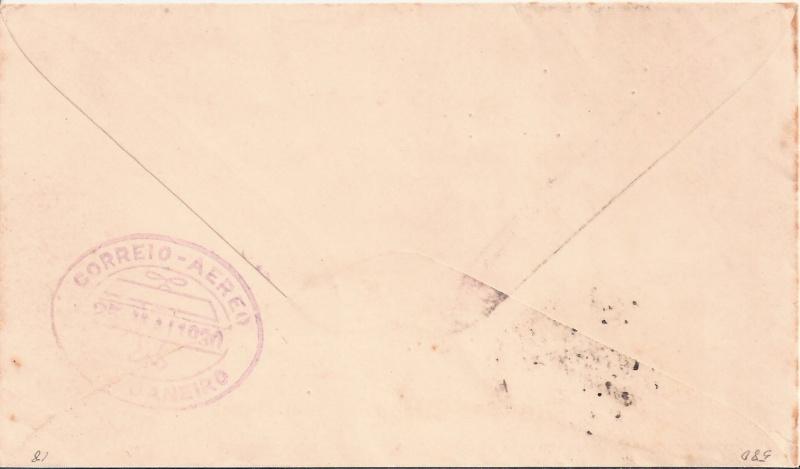 nach - Südamerikafahrt 1930, Post nach Rio de Janeiro Scanne19