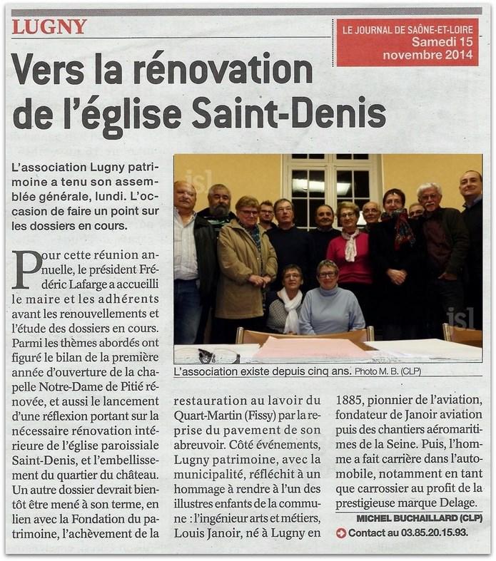 Vers la Rénovation de l'église Saint Denis Lugny_11