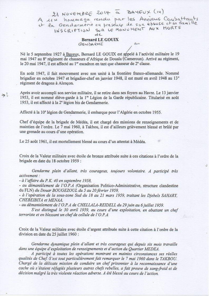 HOMMAGE A UN GENDARME NORMAND, le 21 novembre 2014 à BAYEUX Img25410
