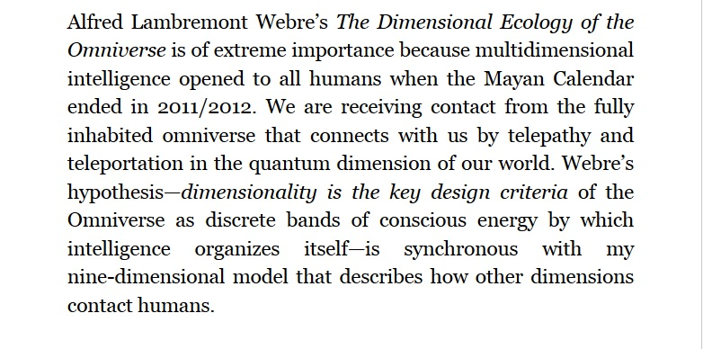 The Dimensional Ecology of the Omniverse by Alfred Lambremont Webre 120