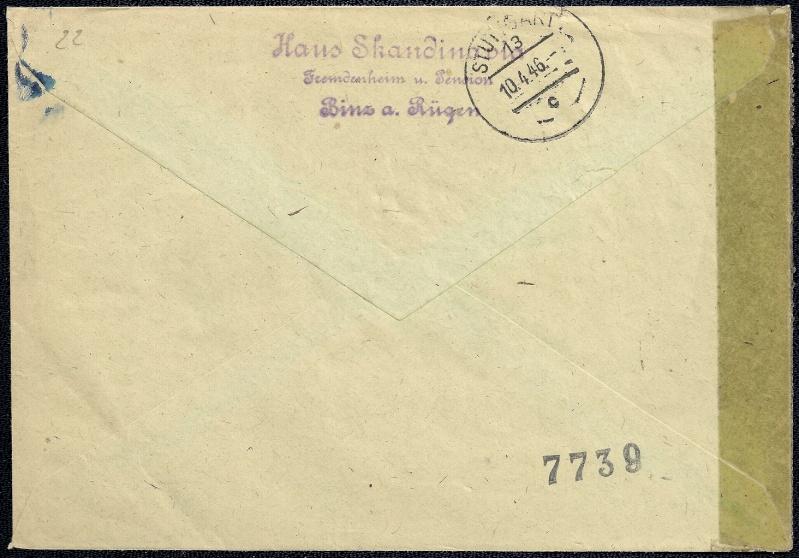 Deutsches Reich - Belege aus März 1946  1946-011