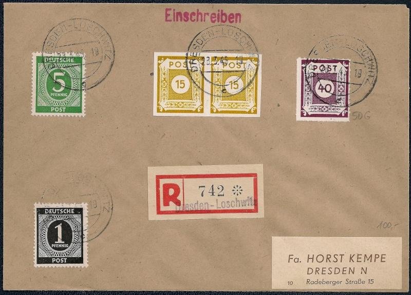 Deutsches Reich - Belege aus März 1946  1946-014