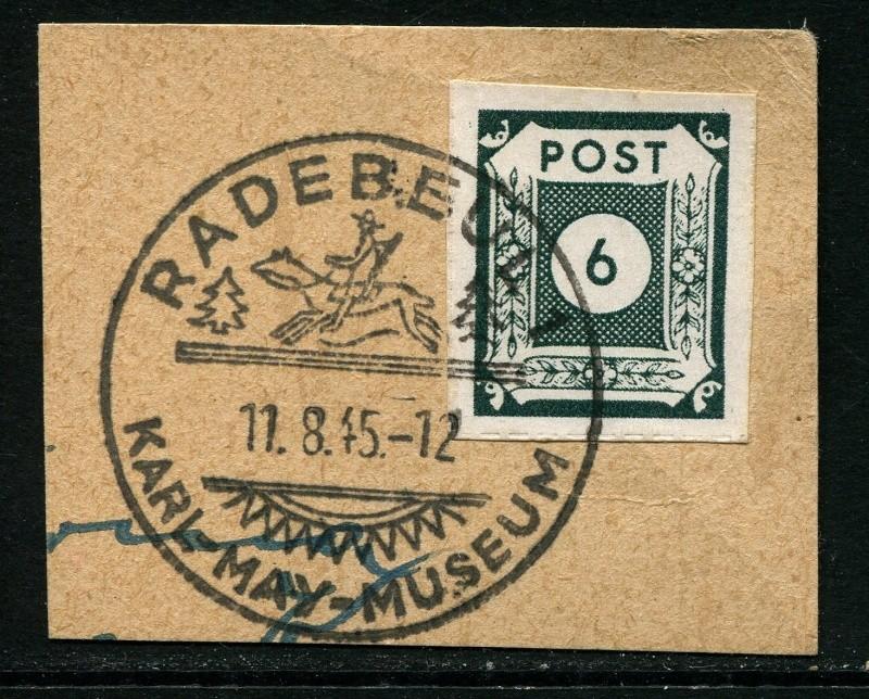 1945 - Ortswerbestempel - Deutschland nach 1945 (Handstempel) Sonder10