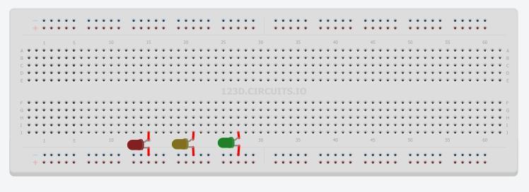 Come creare due semafori azionati da un pulsante (circuito e codice) con Arduino Arduin10