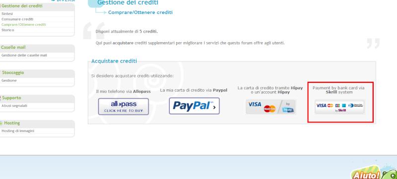 Nuovo metodo di pagamento: Skrill Payame10