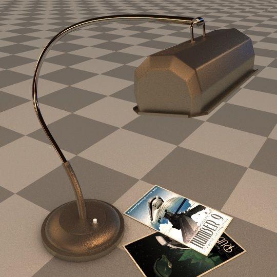 Création 3D : Bureau de Manny - Page 2 Lamp0110
