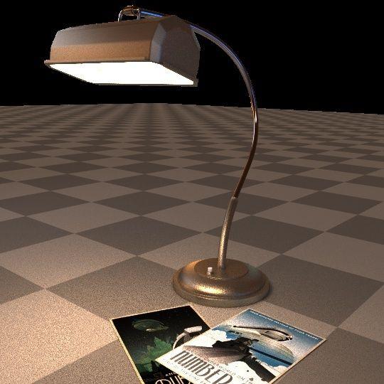 Création 3D : Bureau de Manny - Page 2 Lamp0310