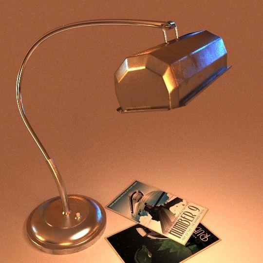 Création 3D : Bureau de Manny - Page 3 Lamp0410