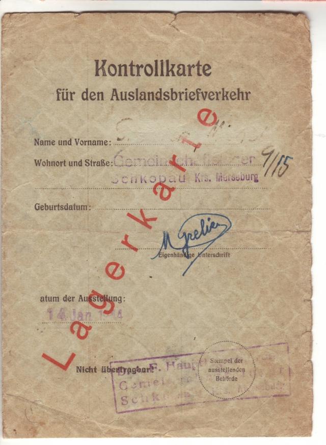 Lettres recommandées des STO ne sont plus admises par la censure de Francfort/M (e) (suite) 1003310