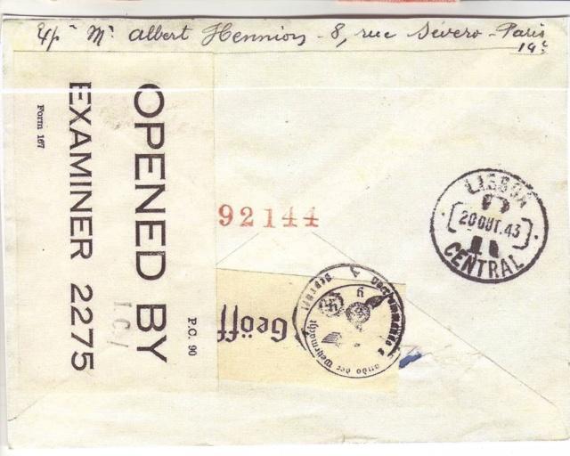 Qui connaît le Tarif postal de France vers le Mozambique en 1943 ?  16000810