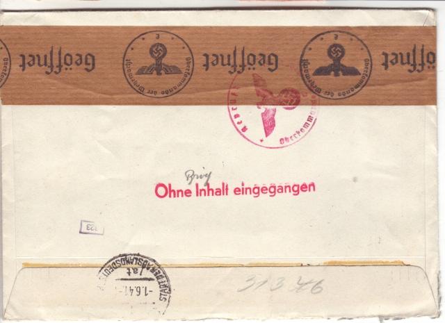 Enveloppes sans contenu examinées par L'ABP e 2023610