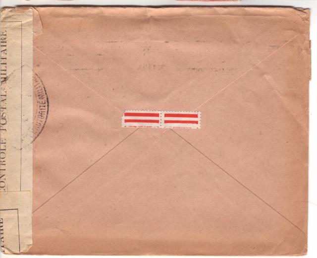 Censure UA 1 sur lettre de Groslejac pour Paris redirigée  sur Vichy en Juillet 1940. 2024110