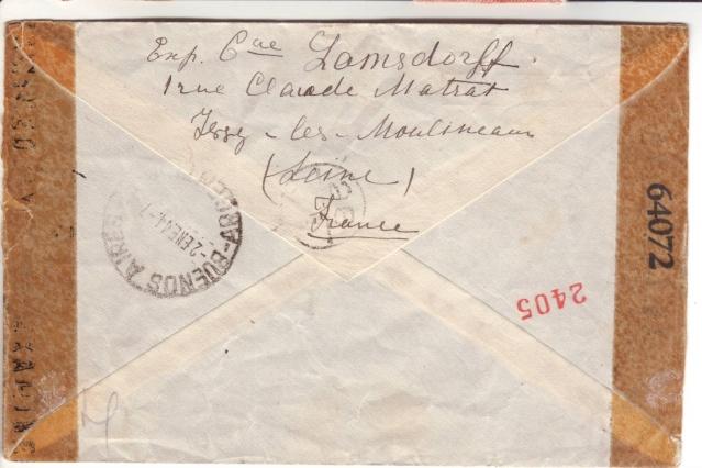 Qui connaît le Tarif postal de France vers le Mozambique en 1943 ?  2024210